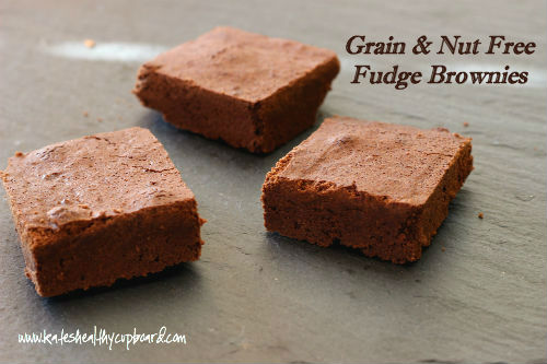 Grain & Nut Free Fudge Brownies