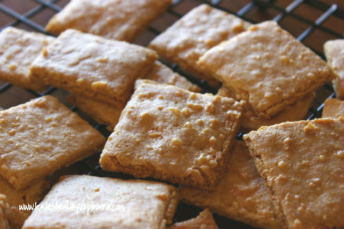 Grain Free Cheddar Cheese Crackers