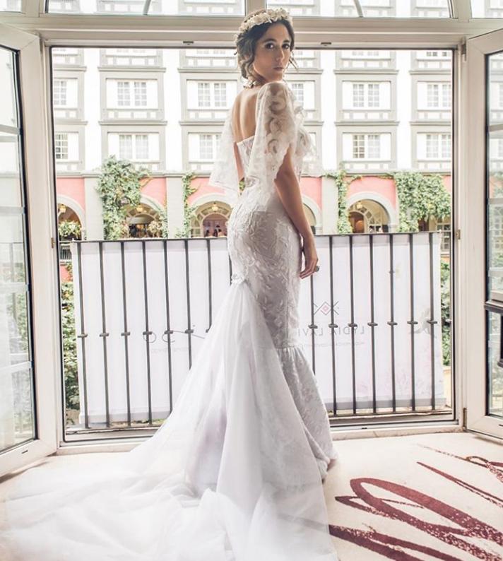 Lydia Lavin/ Diseño exclusivo para Mexico Bridal Fashion by Vogue/ Modelo: Actriz Pilar Santacruz / Foto: Instagram Lydia Lavin