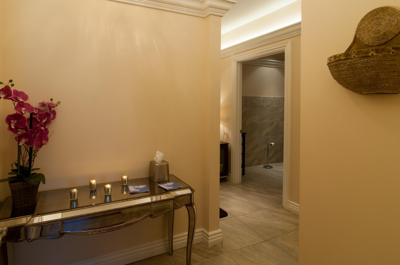 Women's Locker Room Bathroom Shower Amenities Spago Day Spa Medispa Salon Punta Gorda Florida Michael Stampar D.O. DO