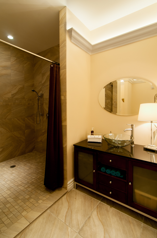 Women's Locker Room Bathroom Shower Amenities Spago Day Spa Salon Punta Gorda Florida Michael Stampar D.O. DO