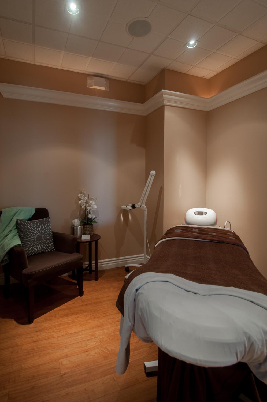 Massage Room Treatment Room Spago Day Spa Medispa Salon Punta Gorda Florida Michael Stampar D.O. DO
