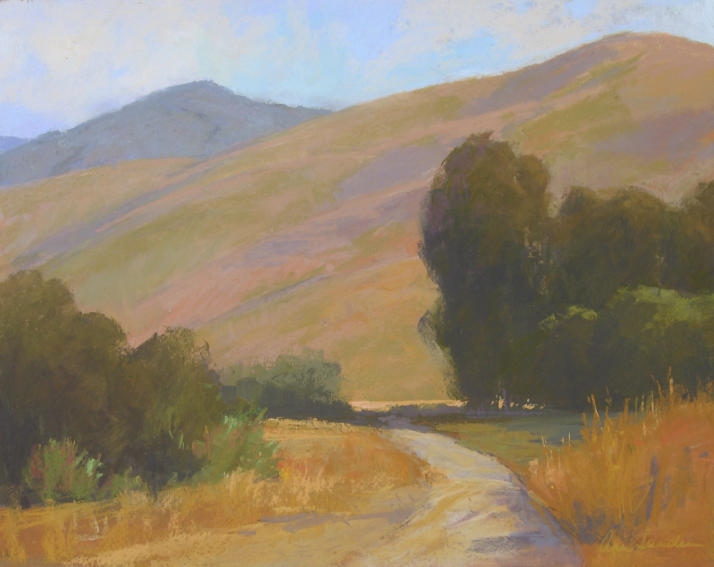 Hollister Ranch, pastel, 16x20 SOLD