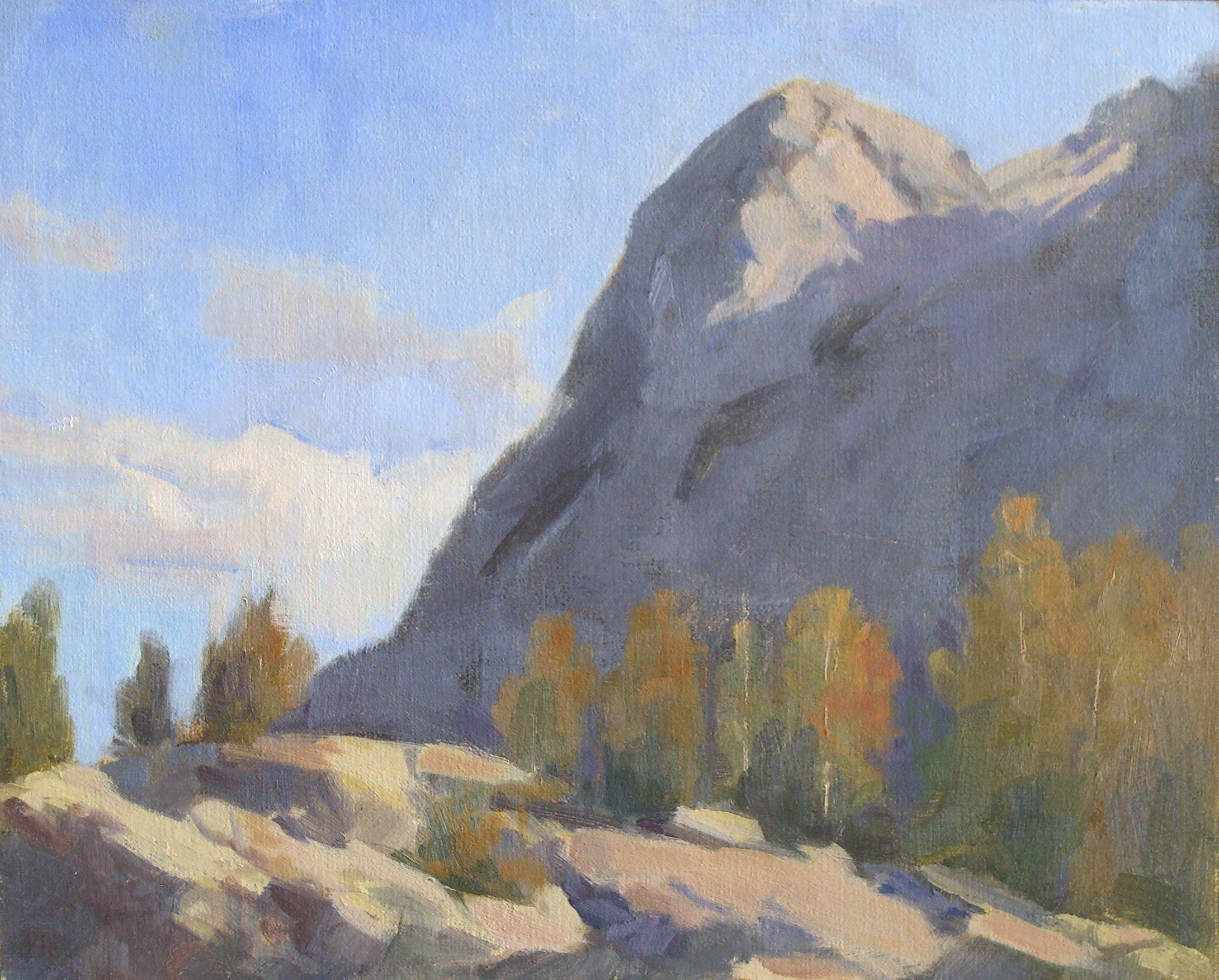 Lundy Canyon, oil, 8x10
