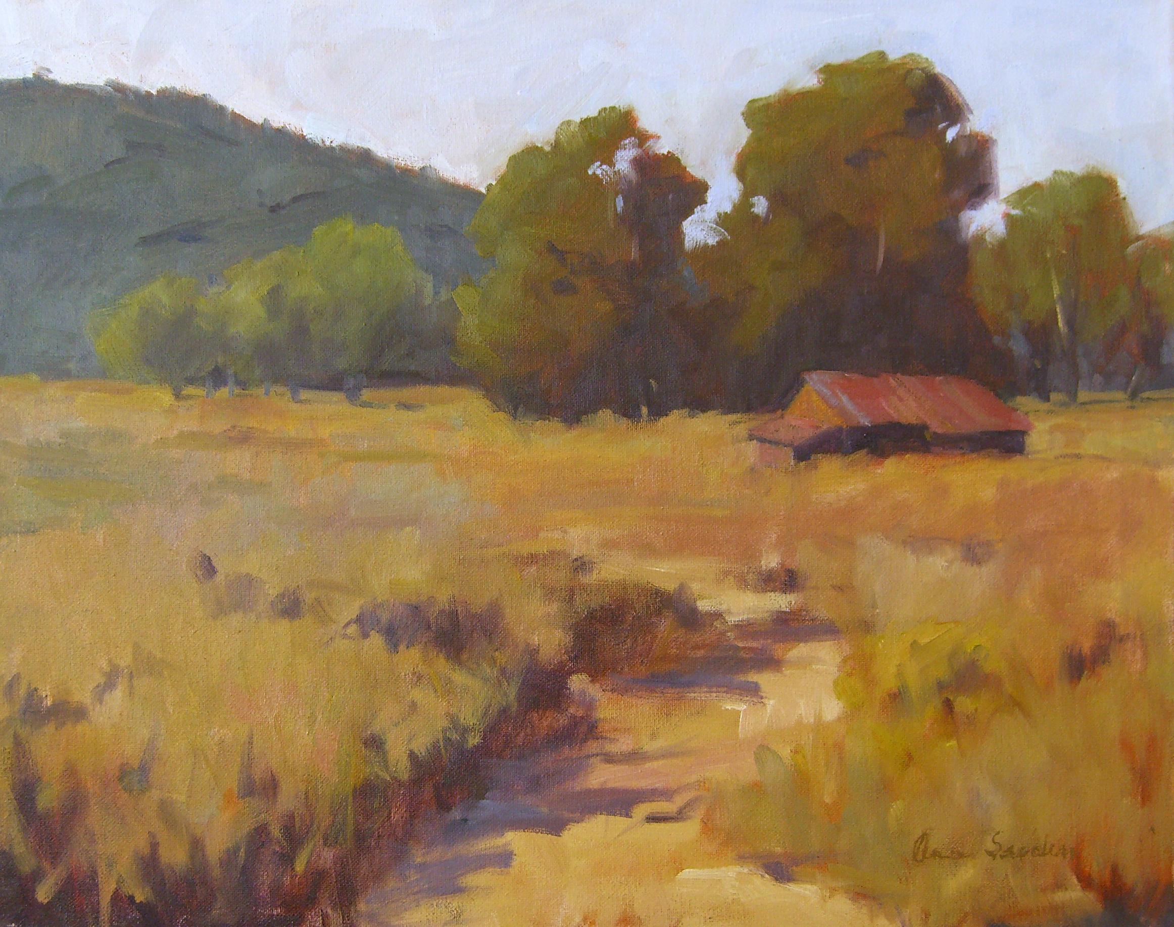 Goat Ranch, Mono, oil, 16x20