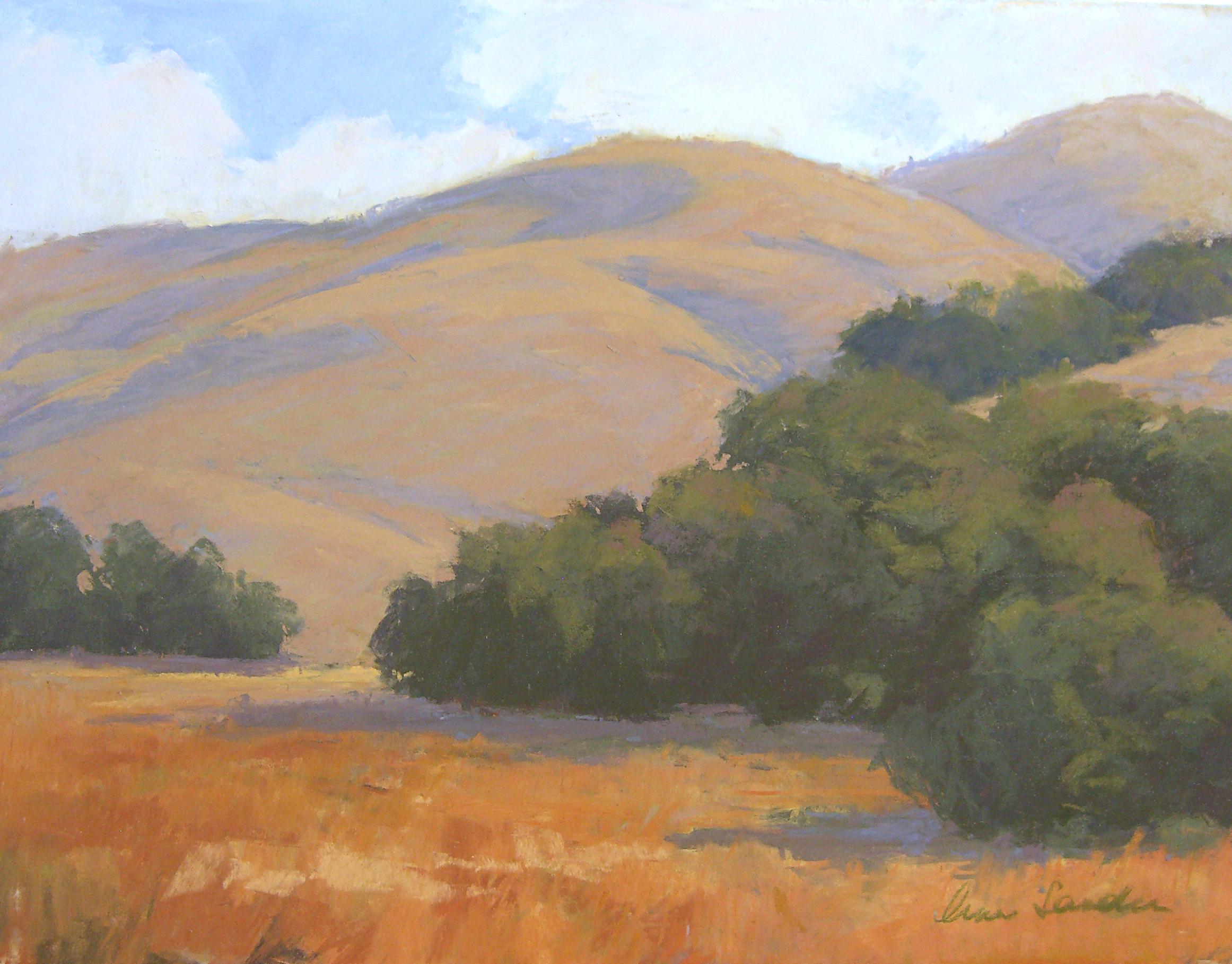 Rolling Hills, pastel, 12x16