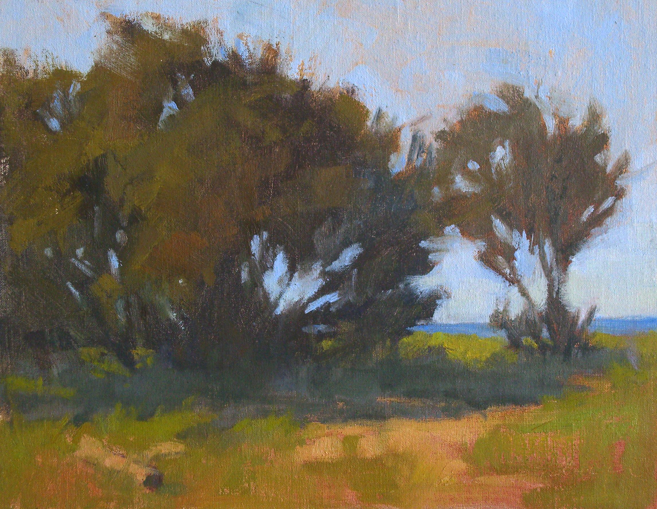Ocean Glimpse, oil, 8x10