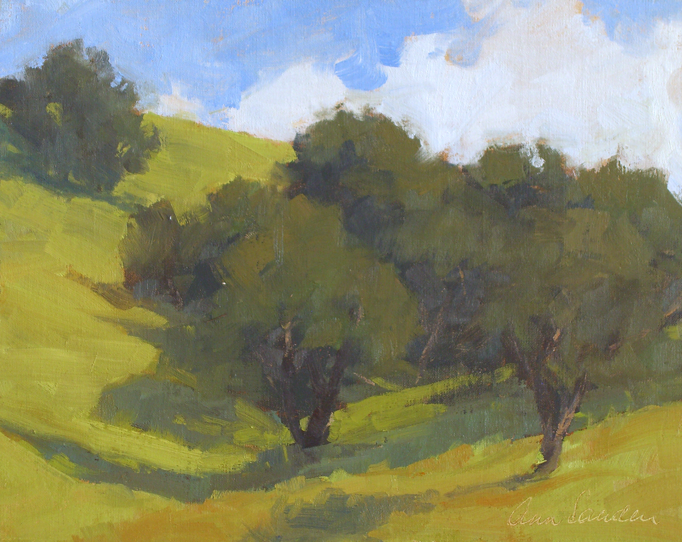 Valley Oaks, oil, 8x10 SOLD