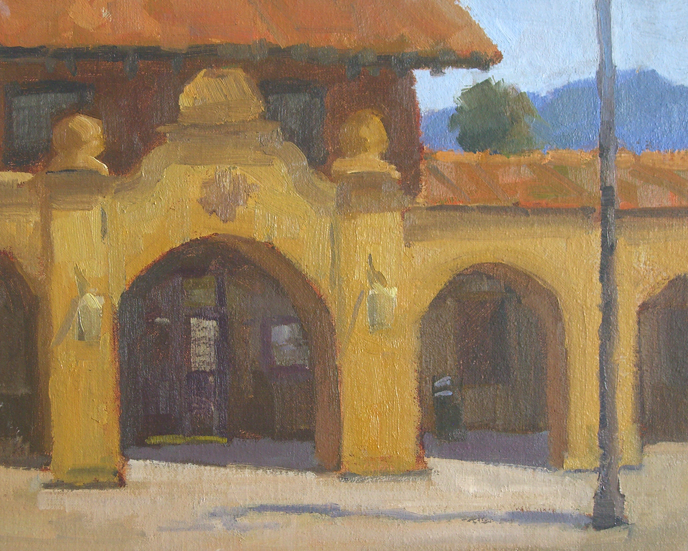 Railway Station, oil, 8x10