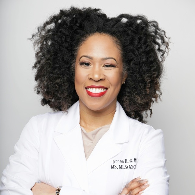 Iyonna Woods,Founding Member - Iyonna Woods, MS, MLS (ASCP) SBB, Founder and Vice President of Product Development and Manufacturing at Fancy Free Hair & Skin, earned a variety of degrees and certificates in the field of medical laboratory science.