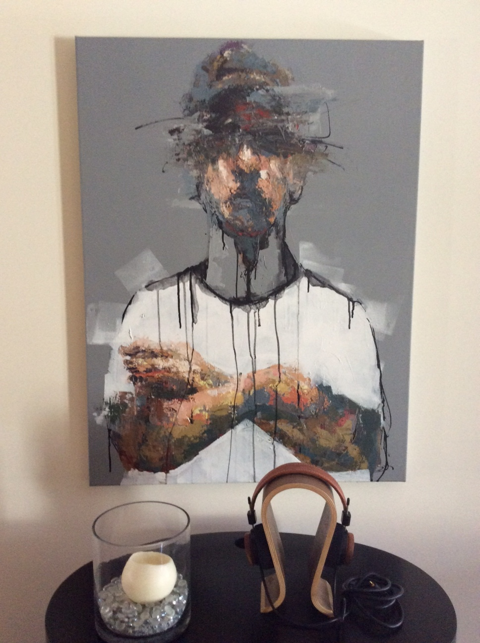 """""""Waiting"""" in client's home. A private look into abstract art."""