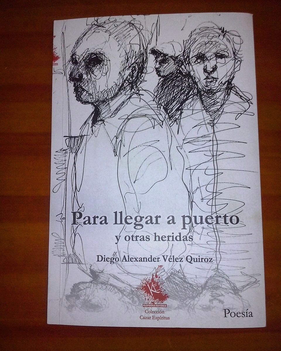 Ink sketches as part of a poetry book cover with Colombia's emerging poets.