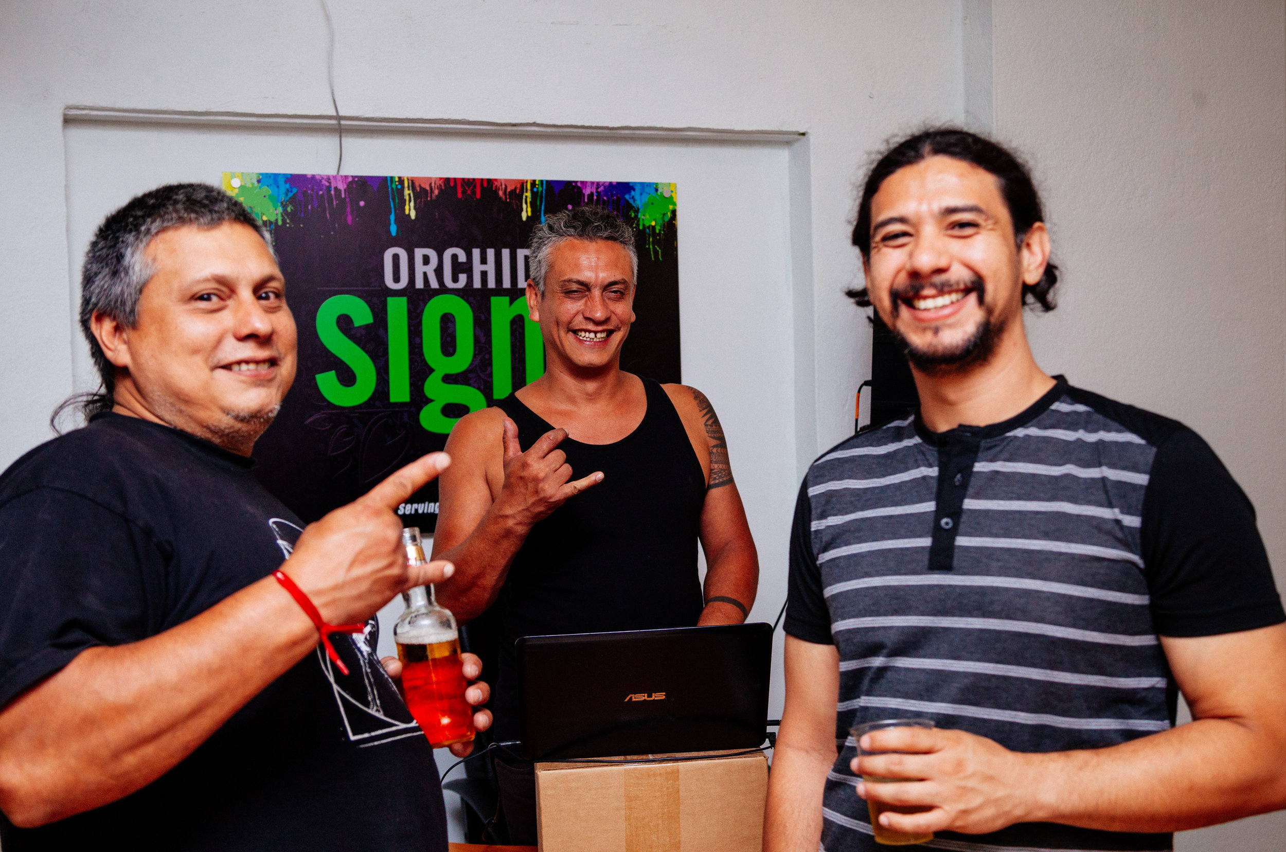 Art show of abstract portraits by Colombian born, Toronto based artist Carlos Delgado in downtown Toronto at Orchid Signs.
