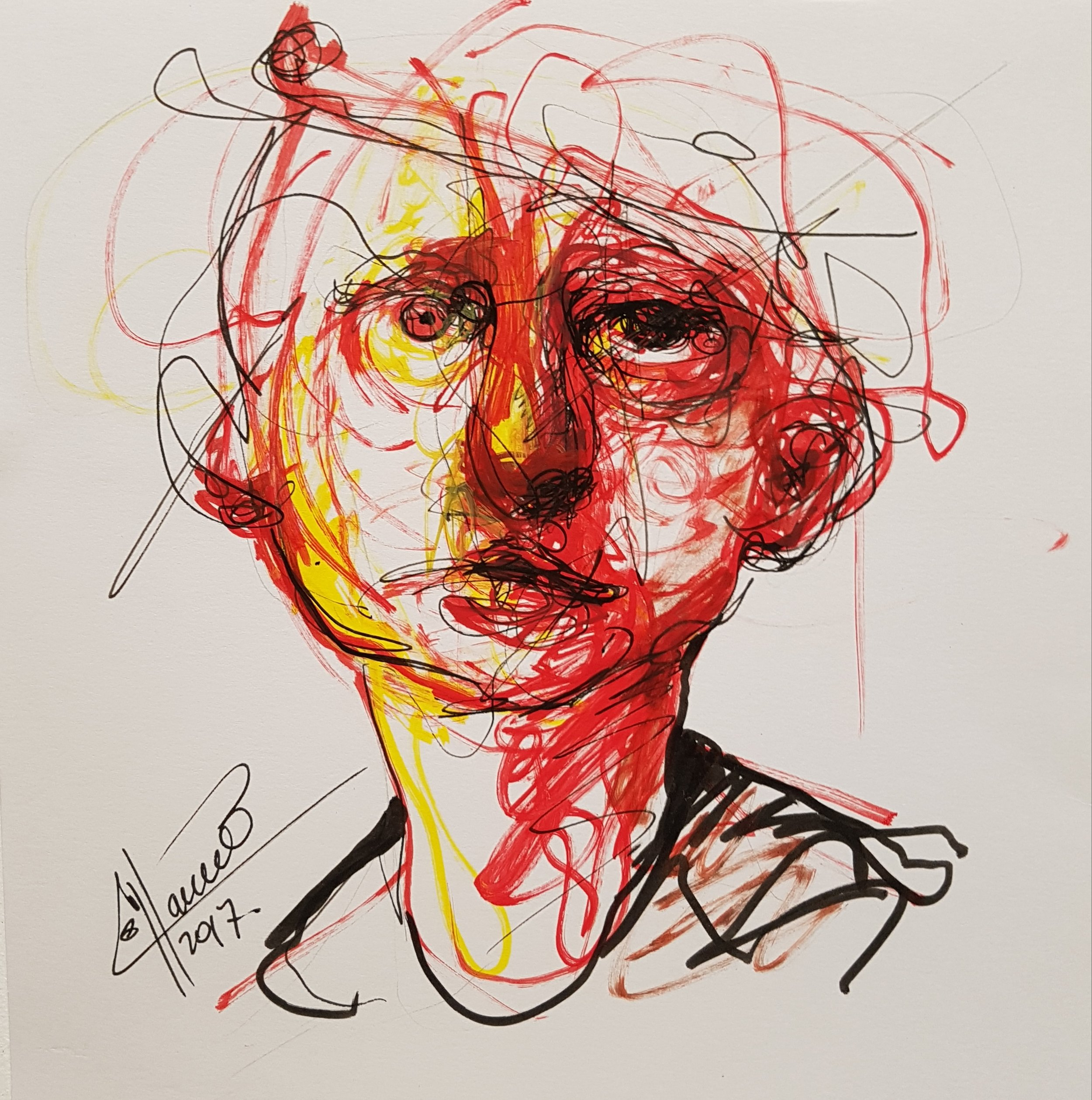 drawing a womens face on marker