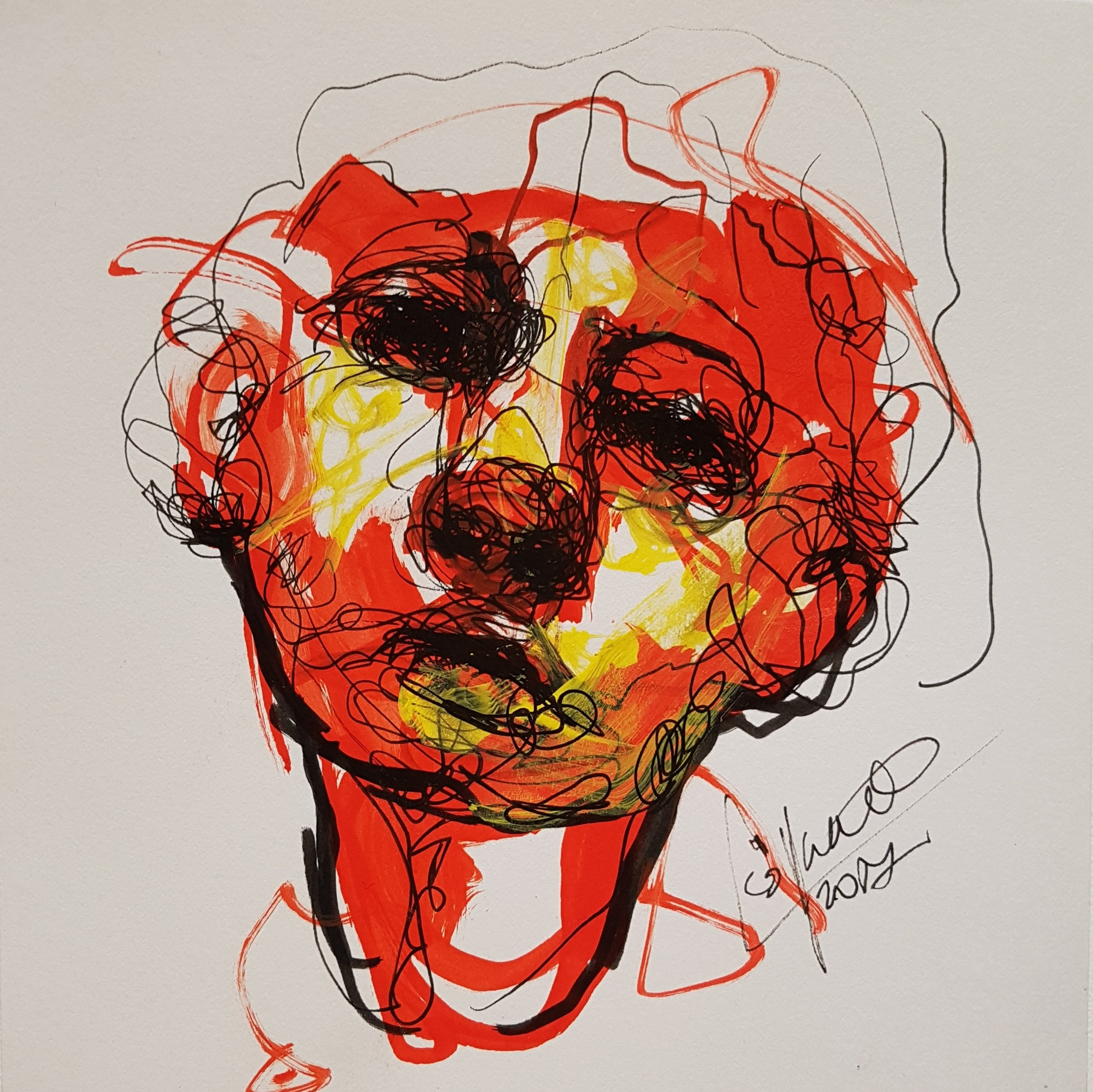 abstract sketch of face