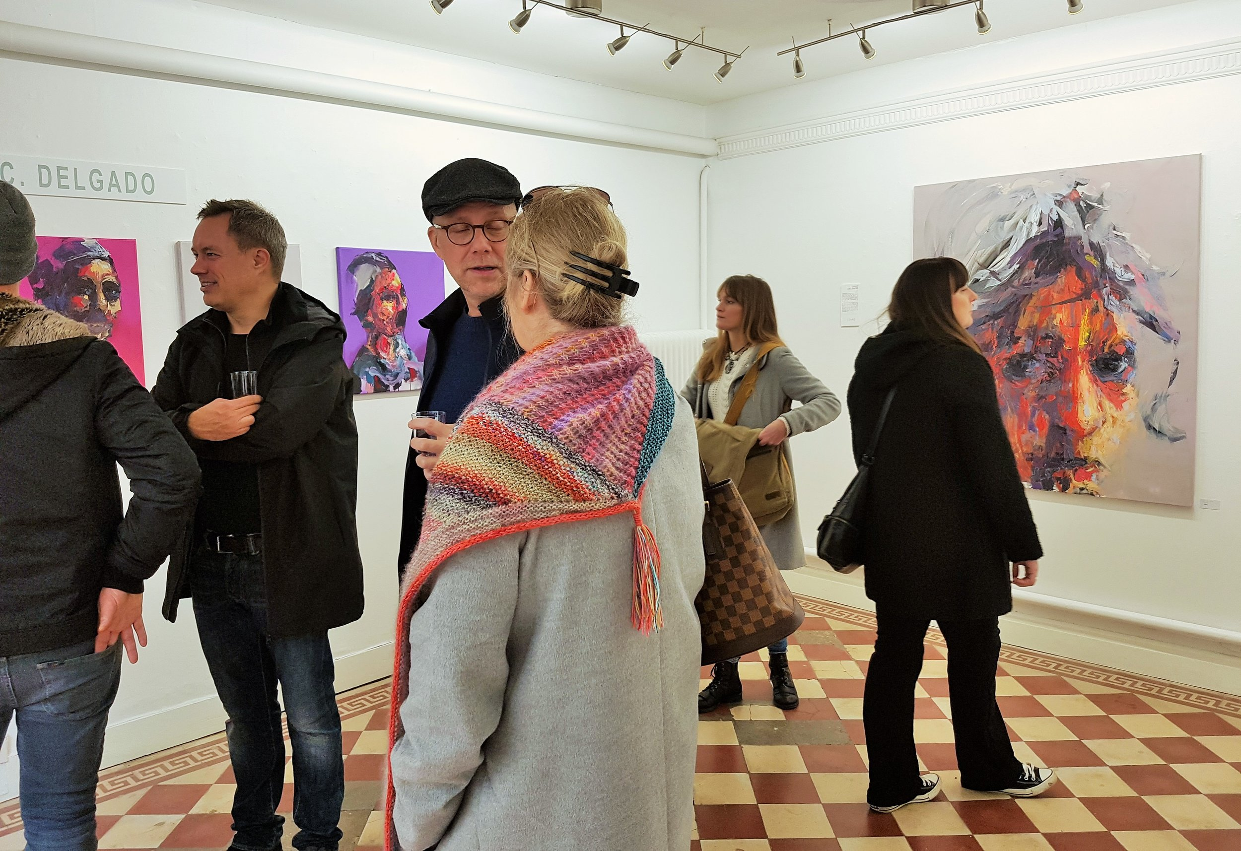 Solo art show in Malmo, Sweden at Galleri Lohme by Carlos Delgado