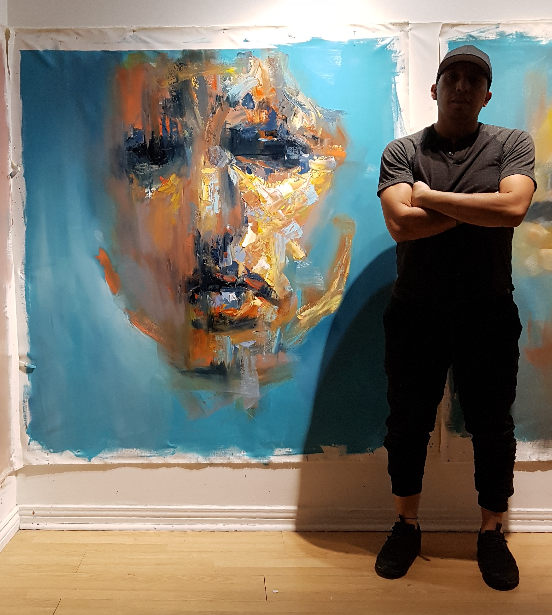 with the artwork, the artist and his work.