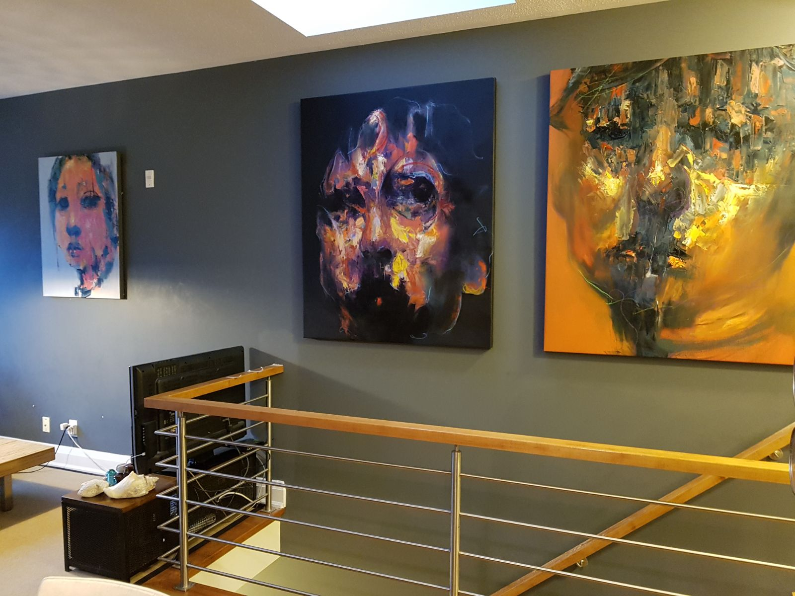 Large scale original art in client's home in Toronto