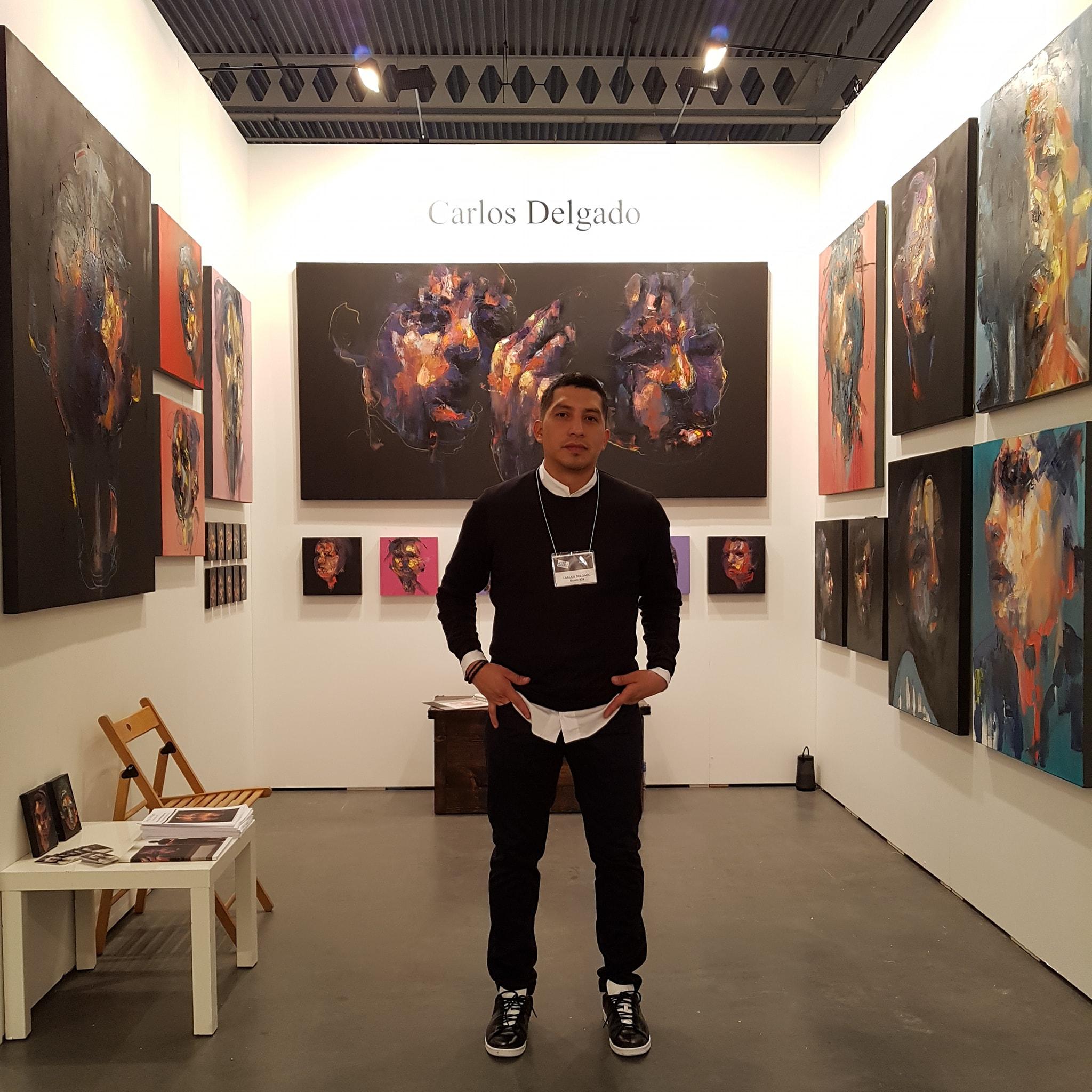 Visual artist Carlos Delgado at Contemporary Art Fair Artist Project, Canada.
