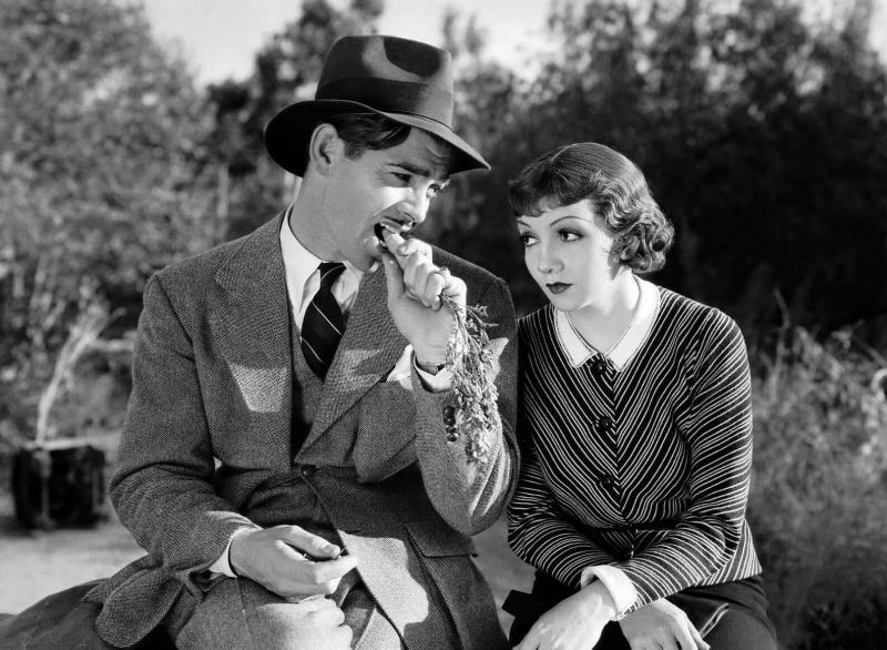 "The 1934 classic   ""It Happened One Night""   starring  Clark Gable and Claudette Colbert ."