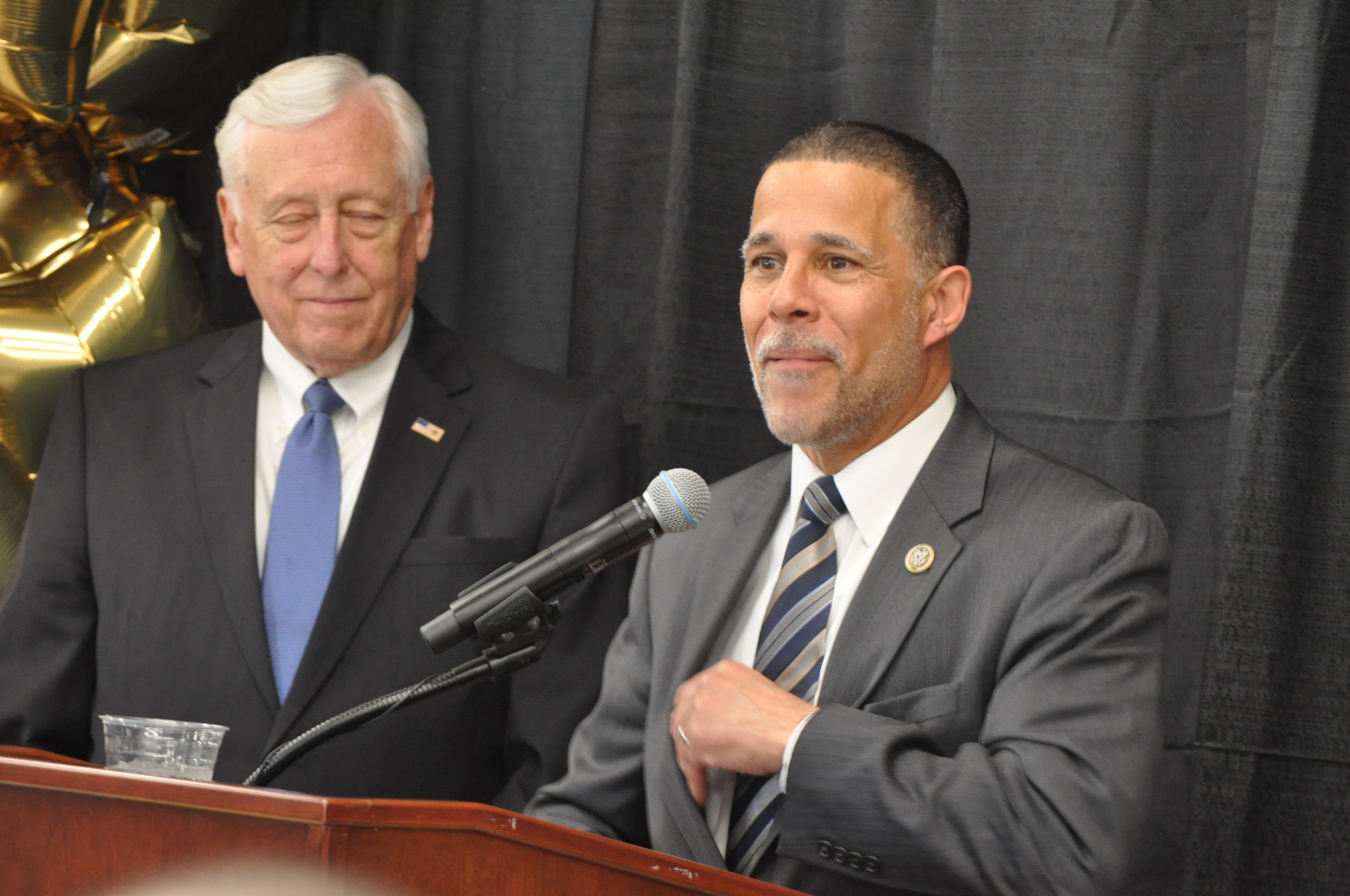 U.S. Congressmen Steny Hoyer (left) and Anthony Brown. PHOTO: RAOUL DENNIS // PRINCE GEORGE'S SUITE MAGAZINE & MEDIA