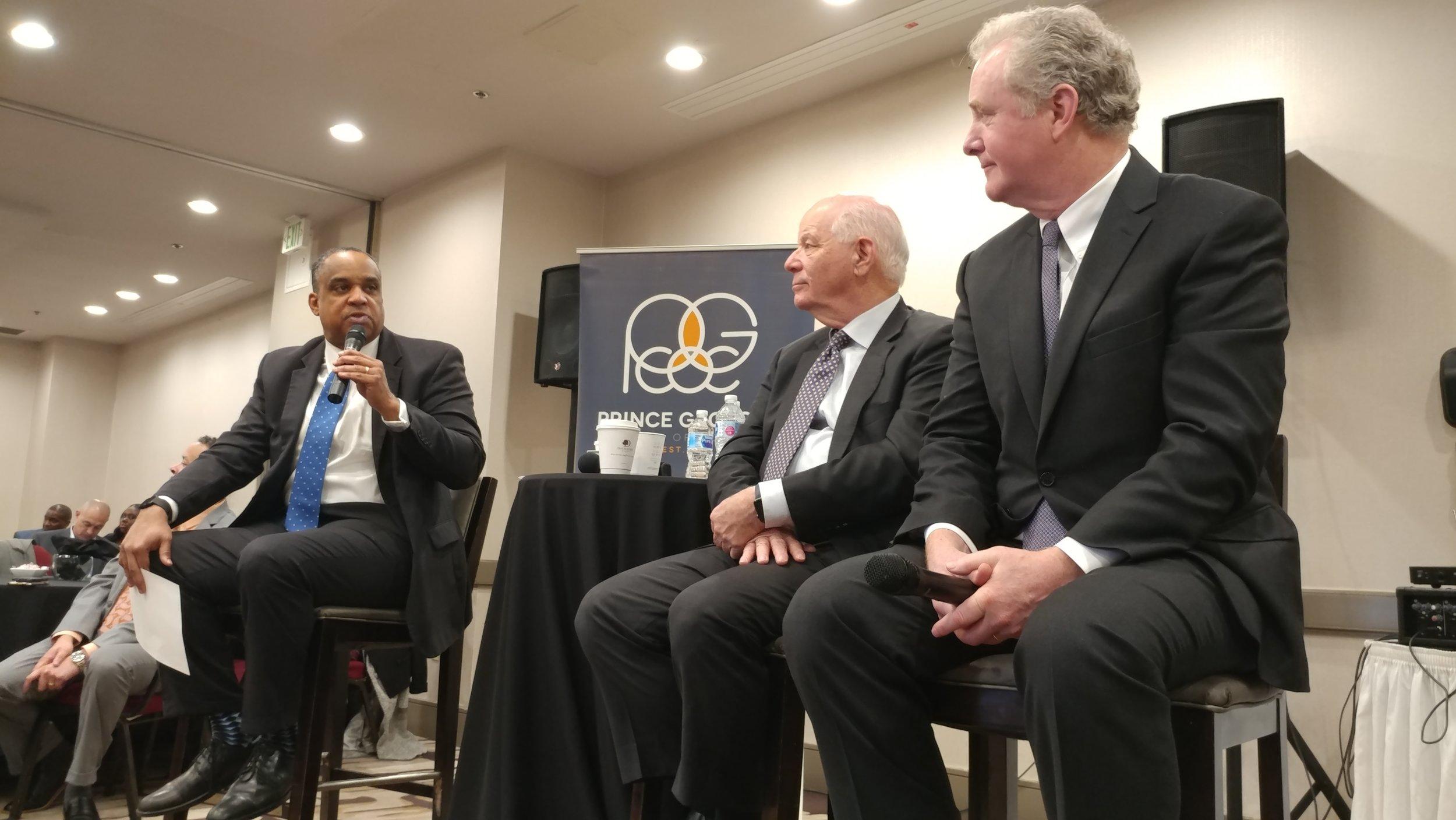 PGCOC President and CEO David Harrington with Sens. Ben Cardin and Chris Van Hollen. PHOTO: RAOUL DENNIS