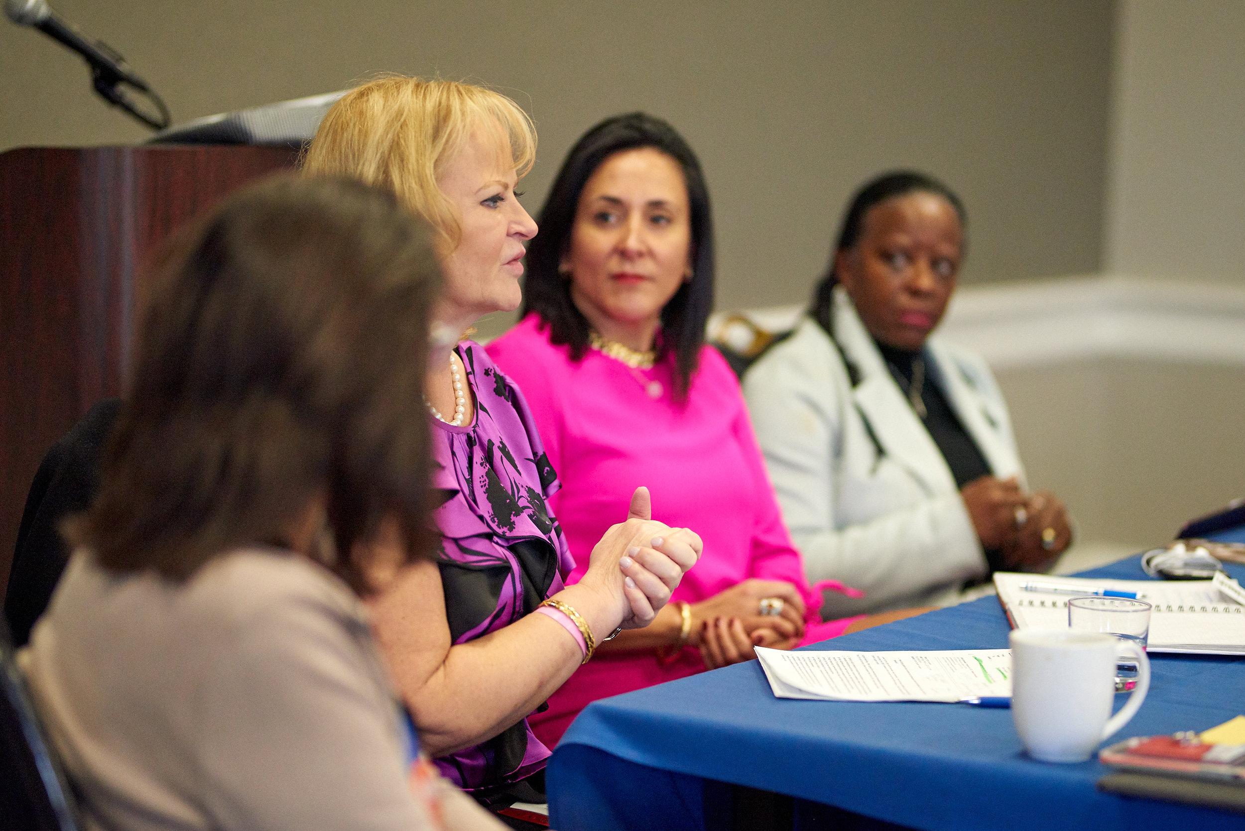 Left to right (panelists): Janice Tippett, Kristina Bouweiri, Angela Franco, Sandra P. Eberhard.