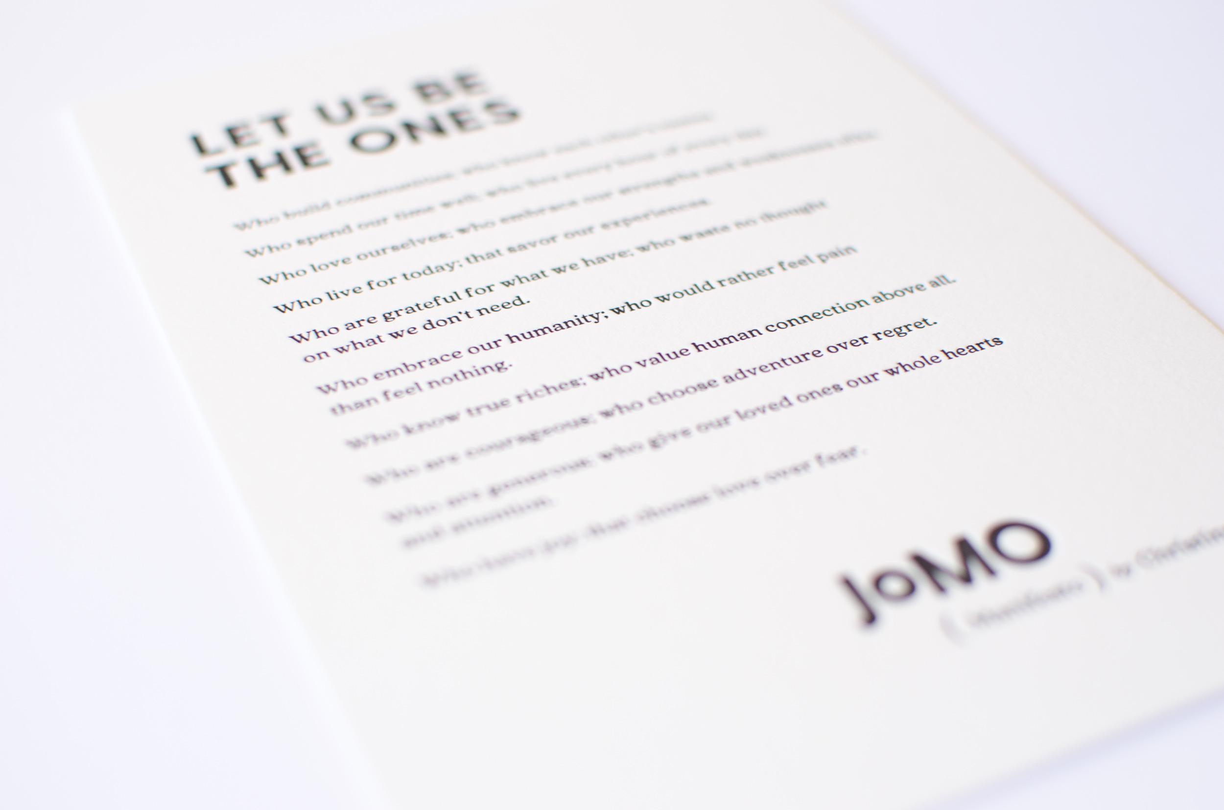 Read the JOMO Manifesto