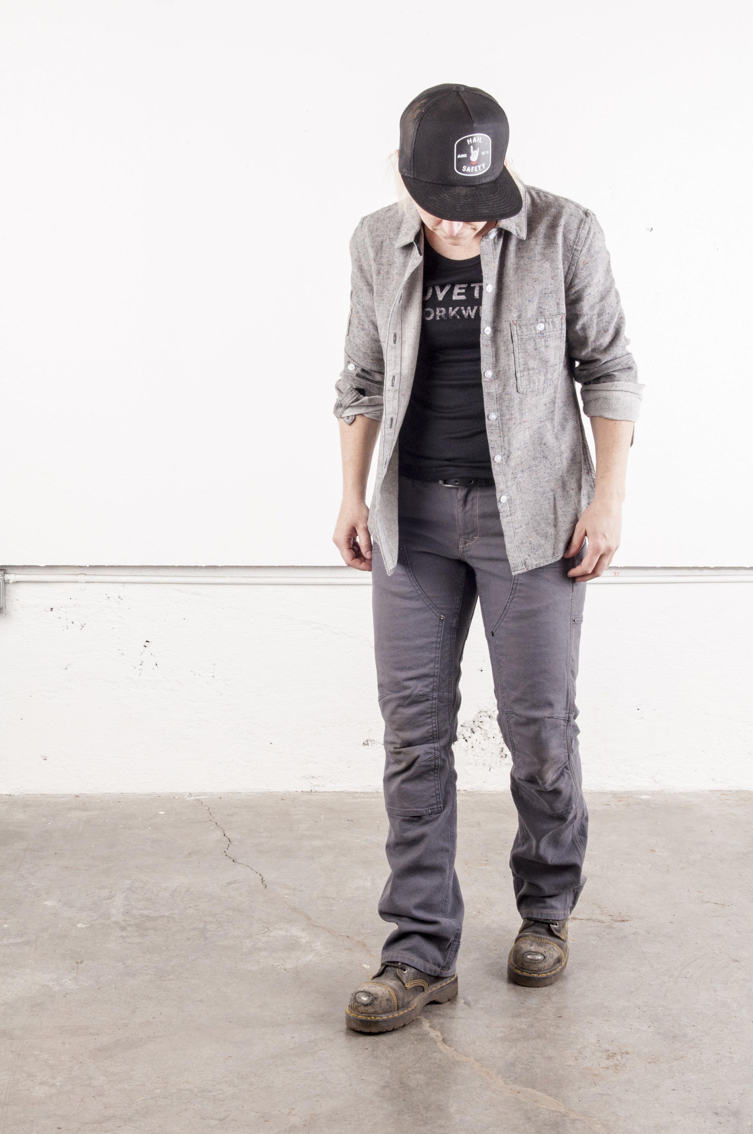 Britt Utility Pant - Dk Gray Canvas & Givens Workshirt