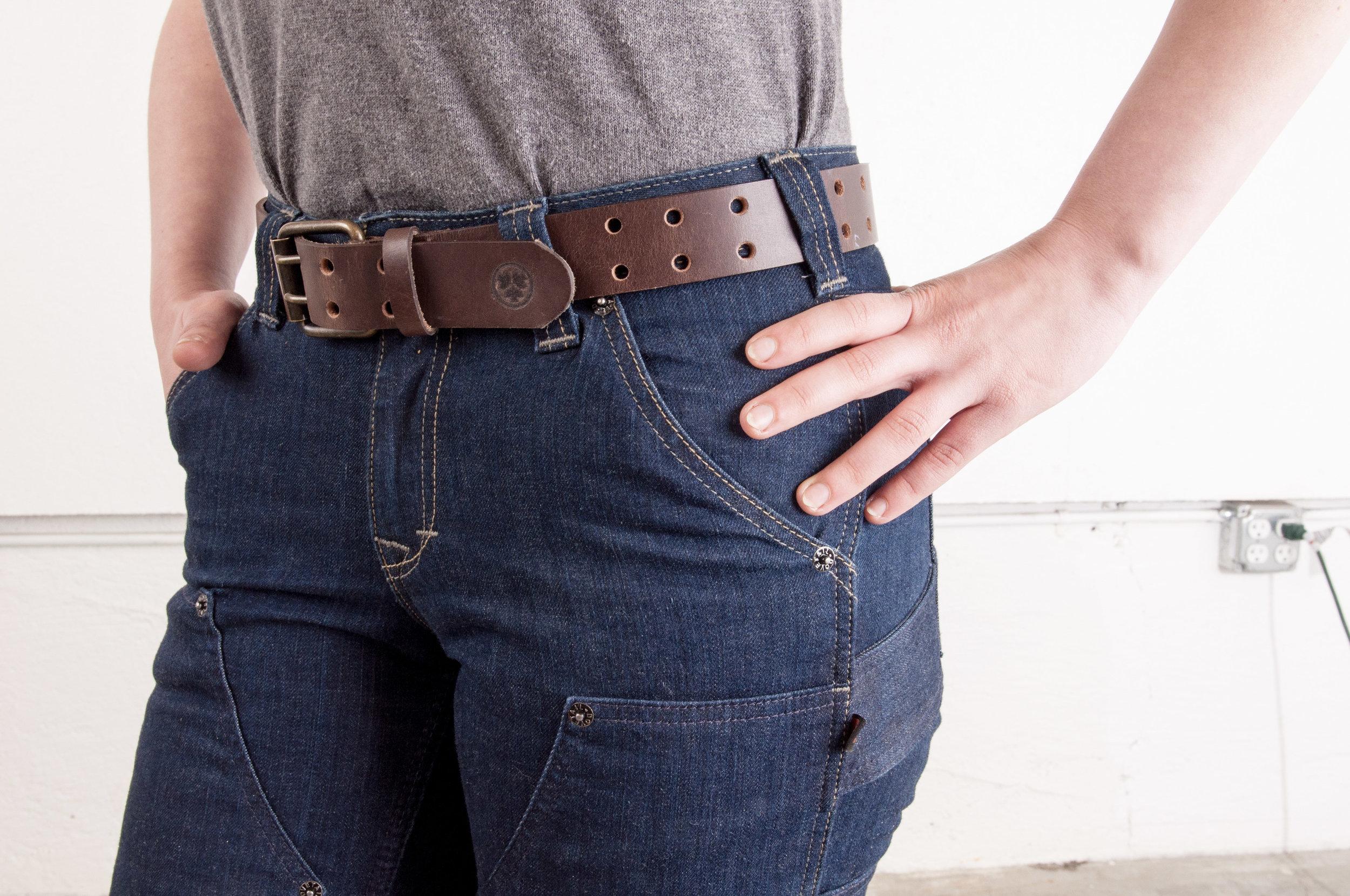 Work Belt Brown