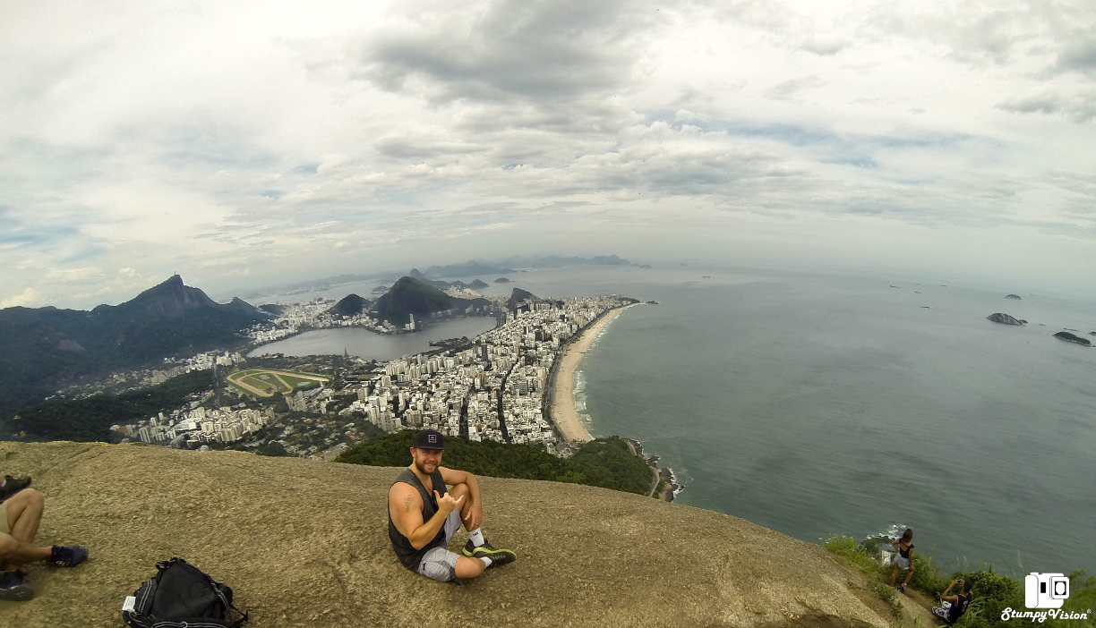 Million dollar views, free to all. Sitting high at the Two Brothers (Dois Irmãos).