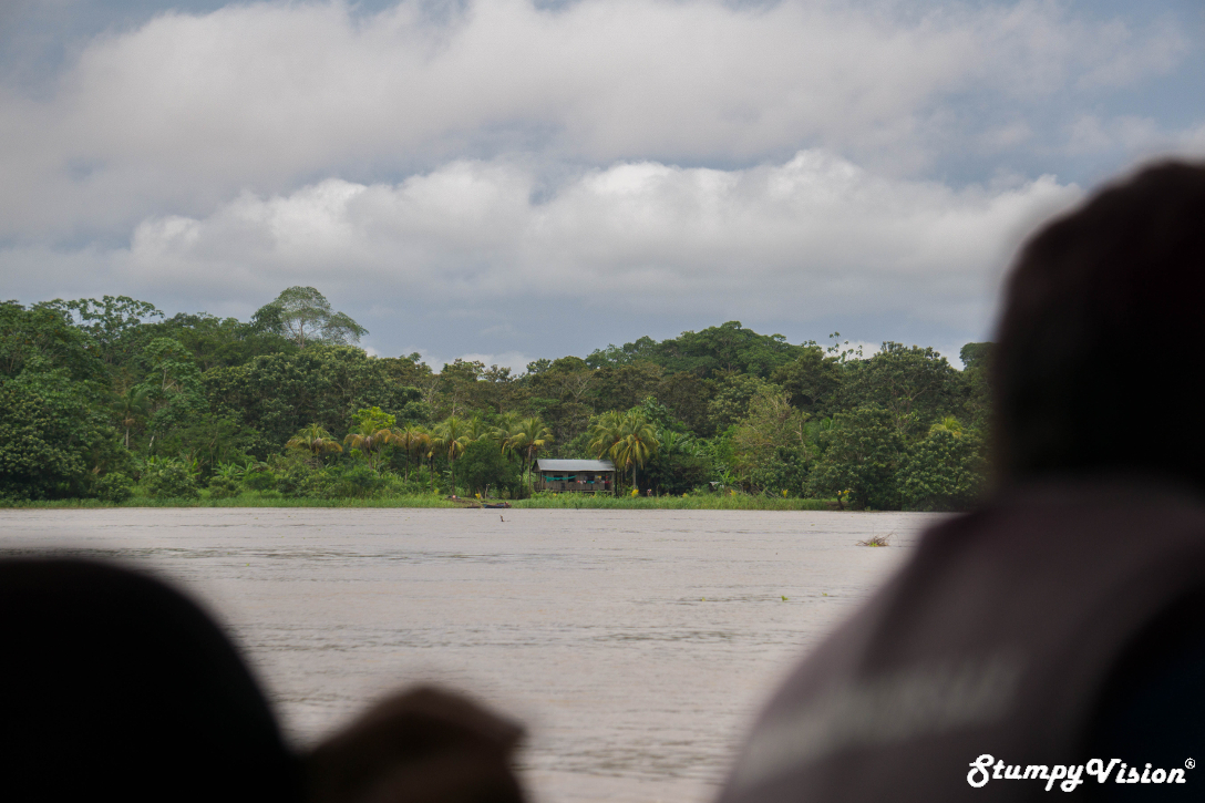 The view across the Amazon to Peru.