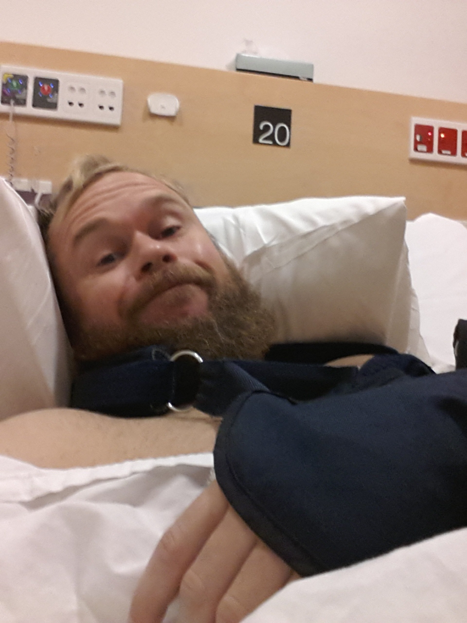 A hospital bed was not where I played to be two weeks into my planned two year adventure.