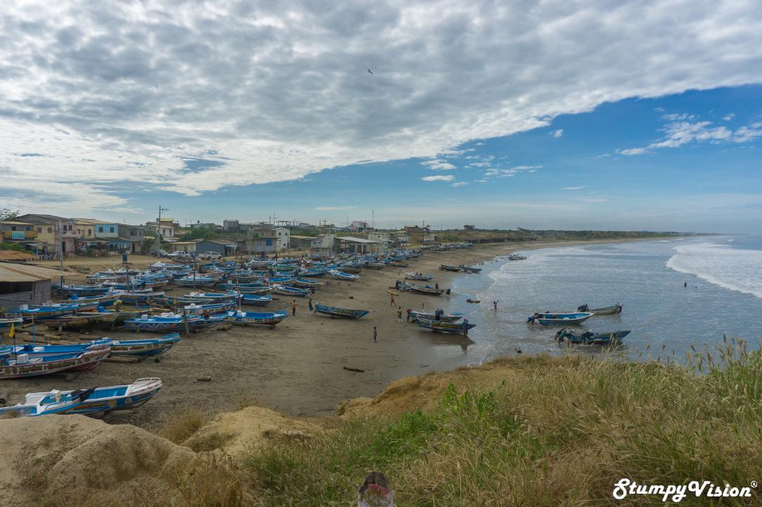A cliché sleepy fishing village in Ecuador.
