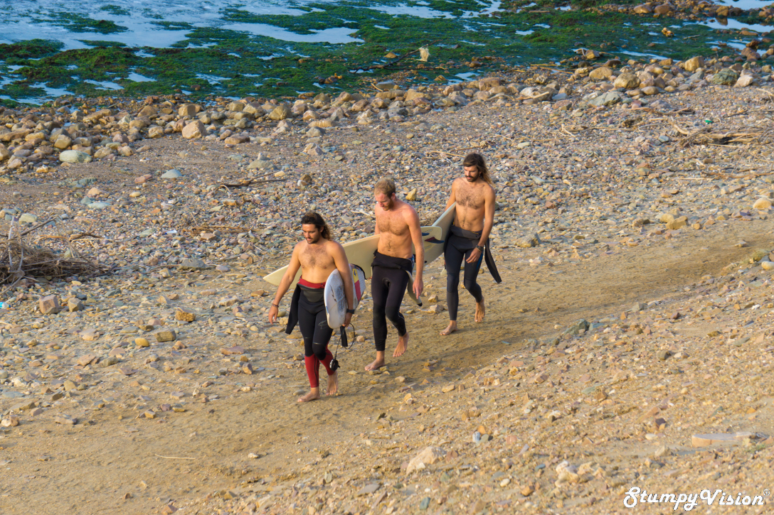 Josh, Vinny and Morgs mid walk.