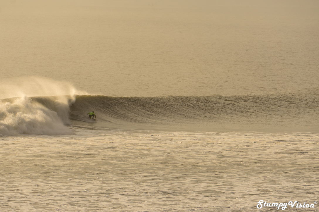 Local legend Carlos Corchero riding the longest wave I encountered while in Peru.