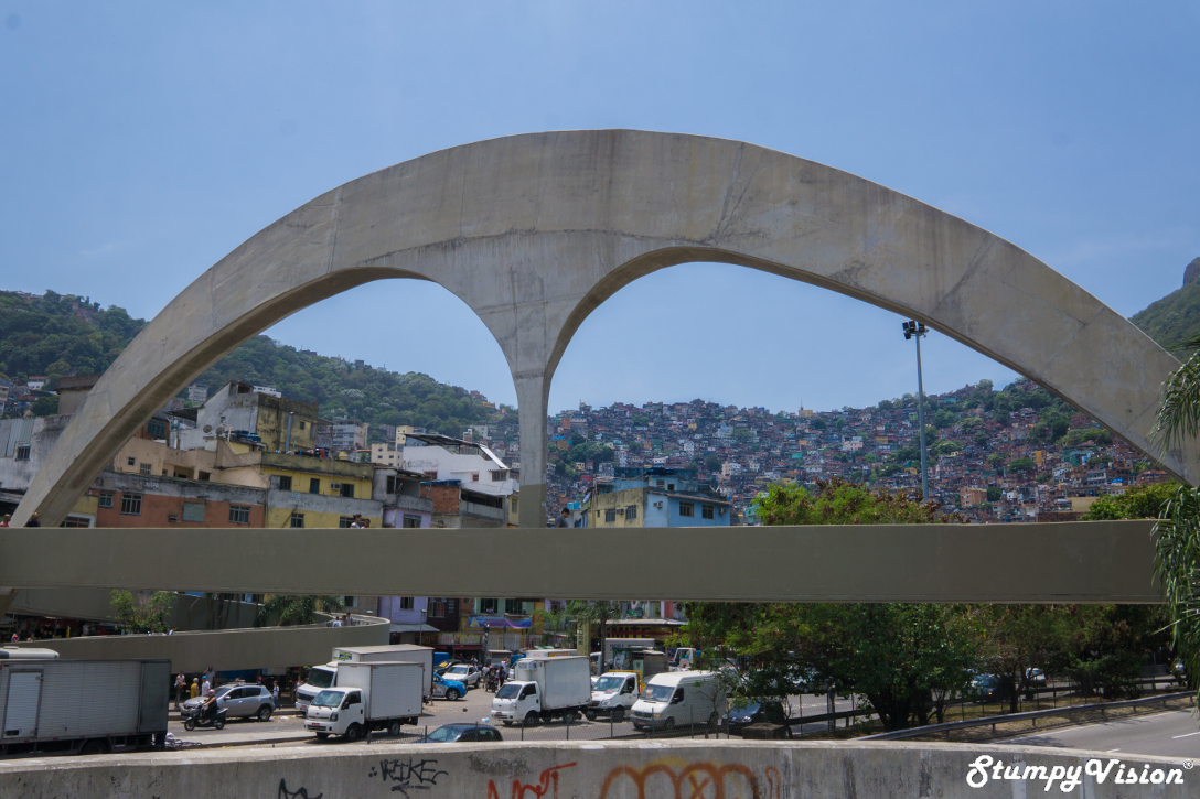 The iconic overpass and entry into Rocinha.