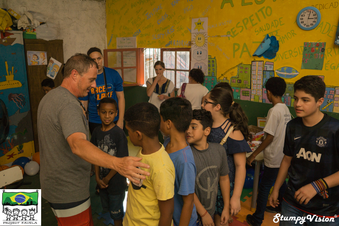 Project Favela founder Scott Miles in action.