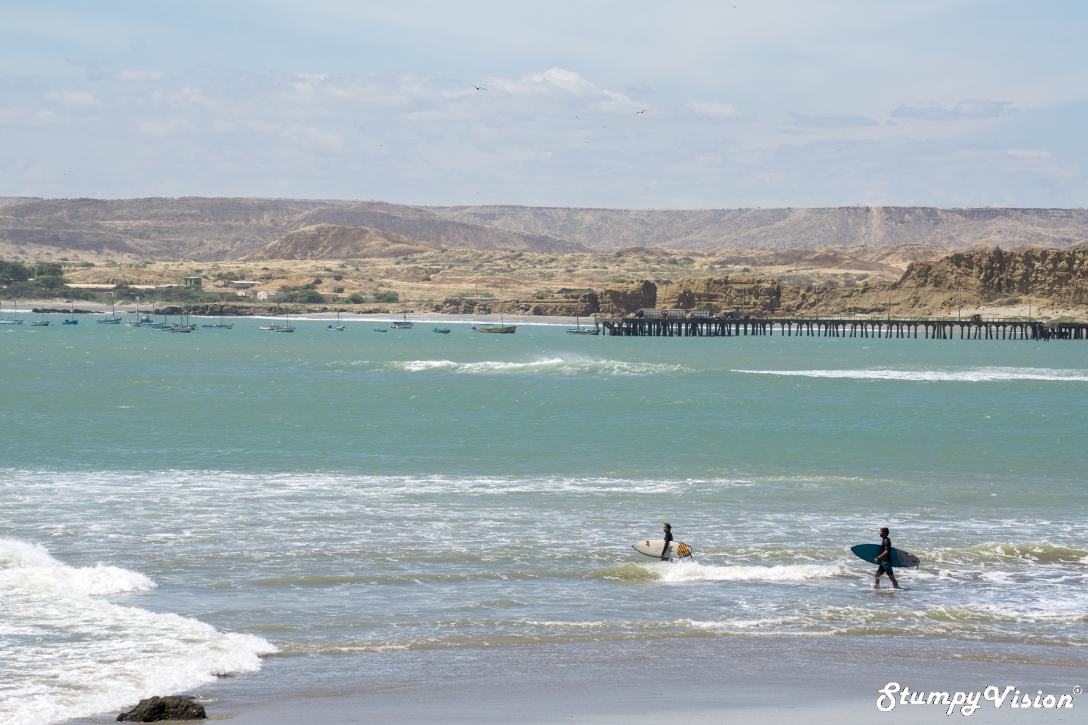 Surf perfection in the middle of the Peruvian desert, this is Lobitos.