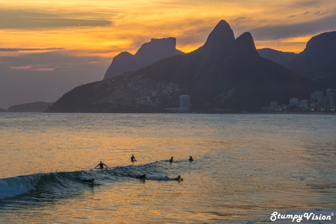 Praia Arpoador, quite possibly the best sunset view on the planet.