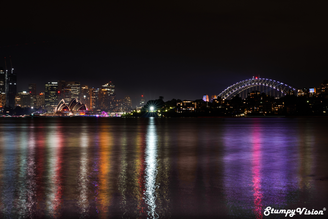 The two icons prior to the fireworks display. Settings: Aperture F11, Exposure 30 secs & Iso 100.