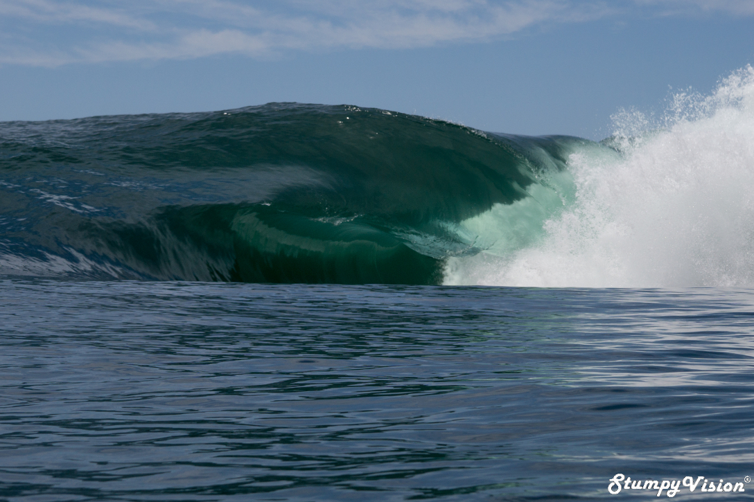 In waves this heavy it is essential to have the best equipment possible.