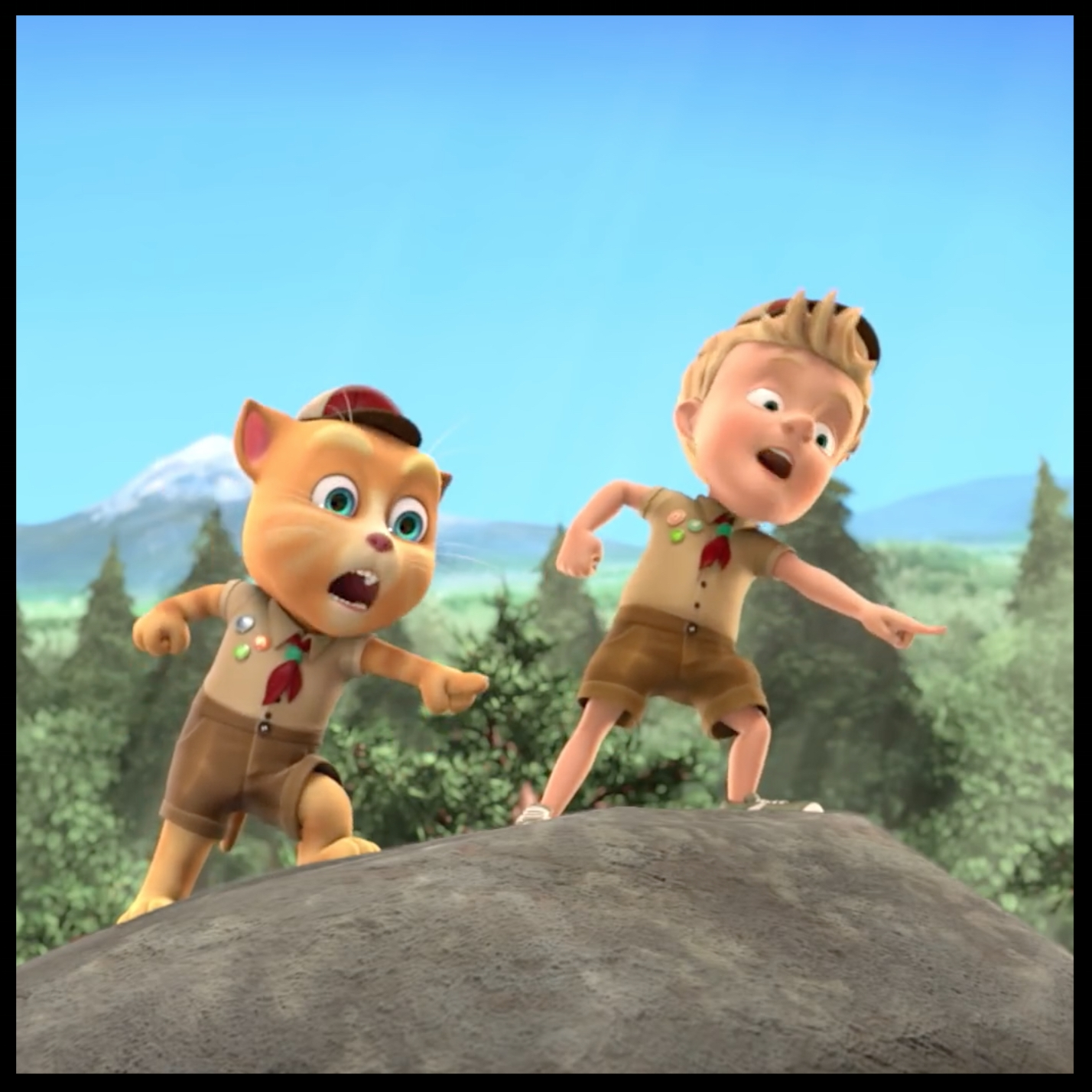 talking tom & friends: the lost scouts