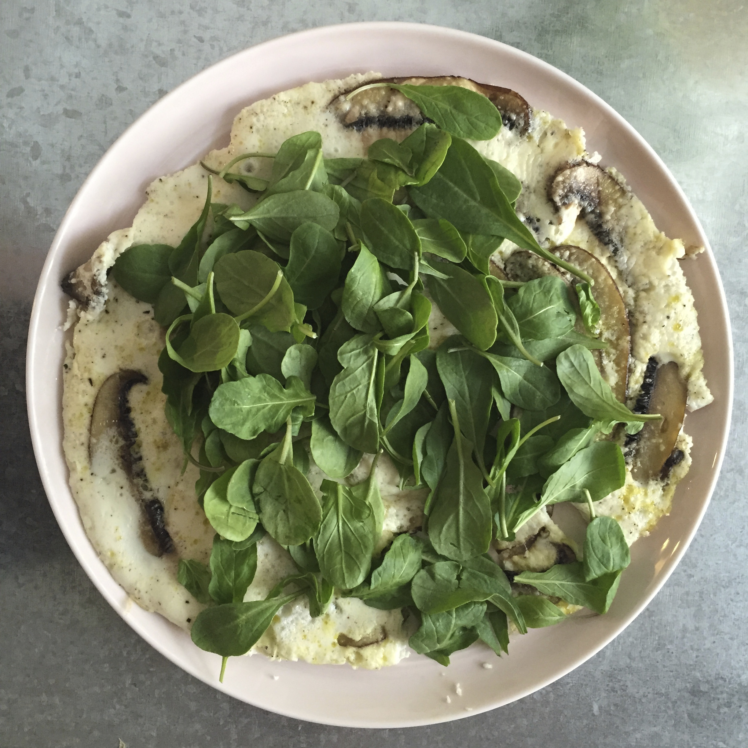 Egg White and Mushroom Frittata with Arugula and Parmesan