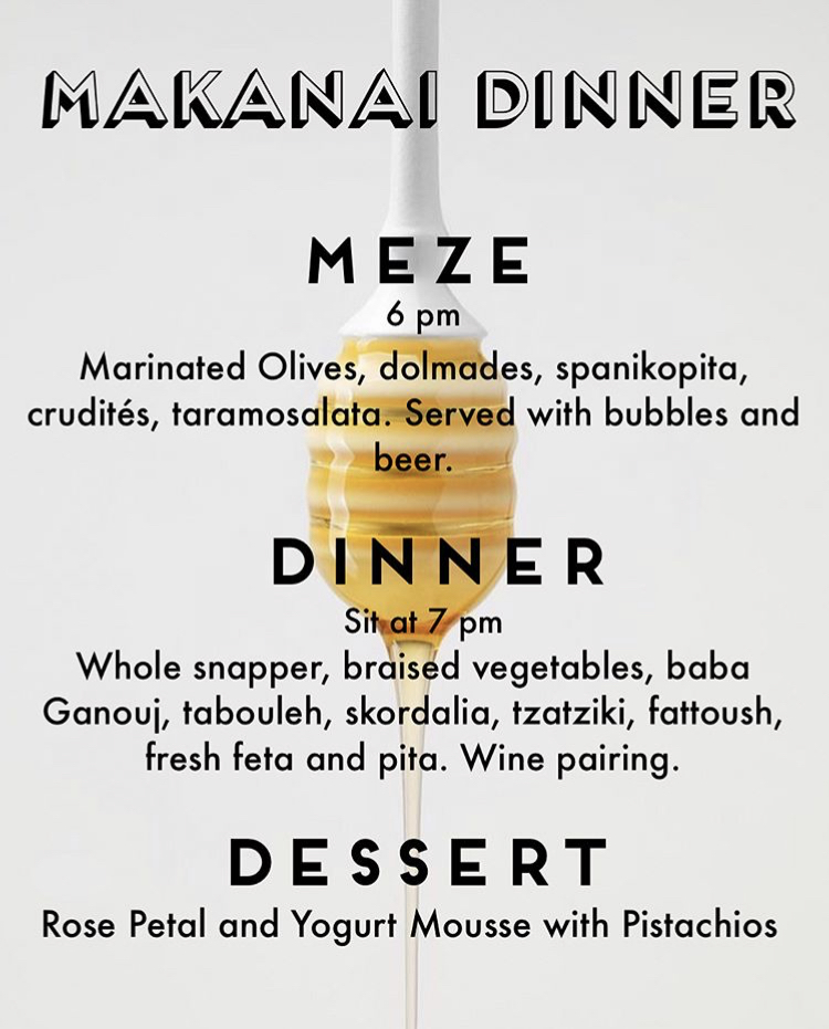 This was a menu from a past Makanai Dinner pop-up