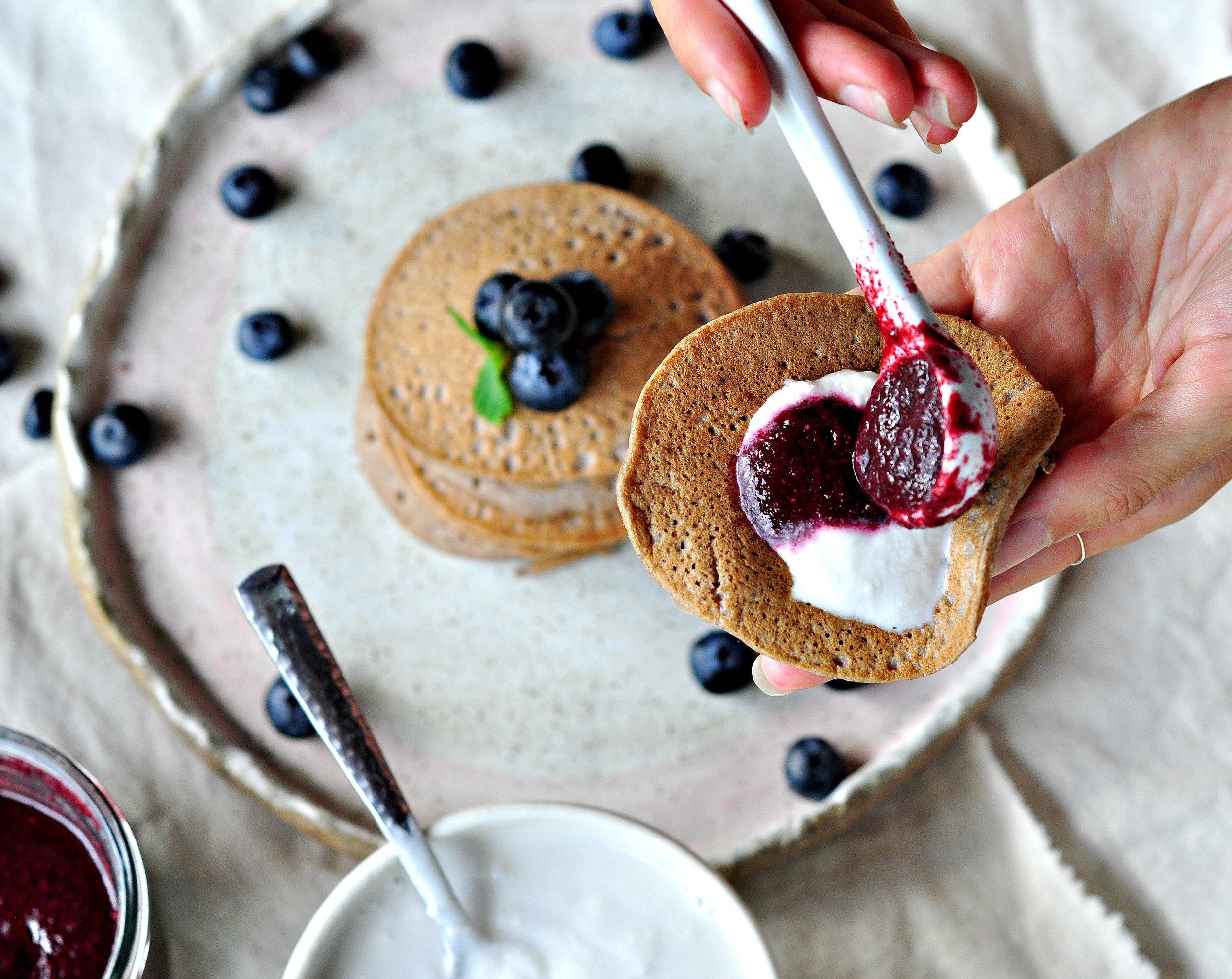 Pancakes - yog and jam.jpg