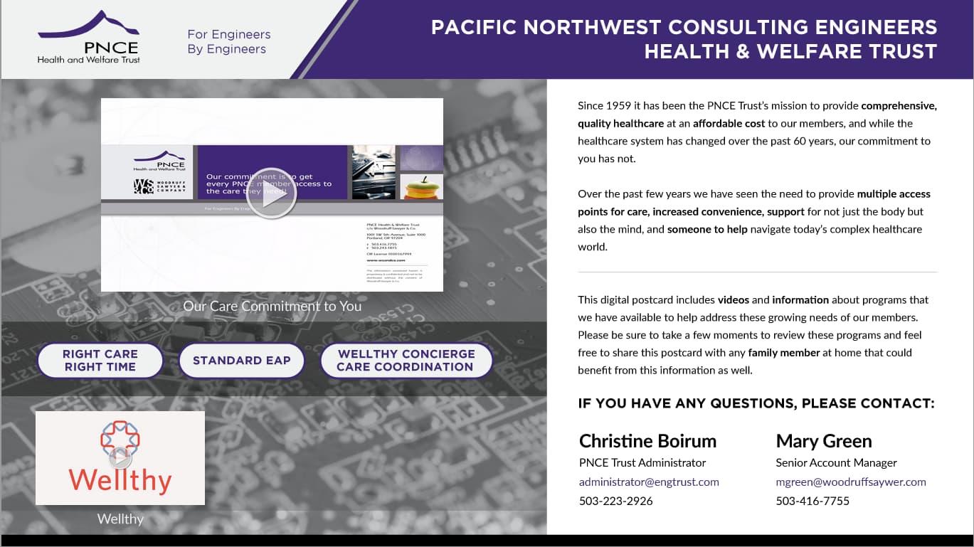 The PNCE Trust's digital postcard