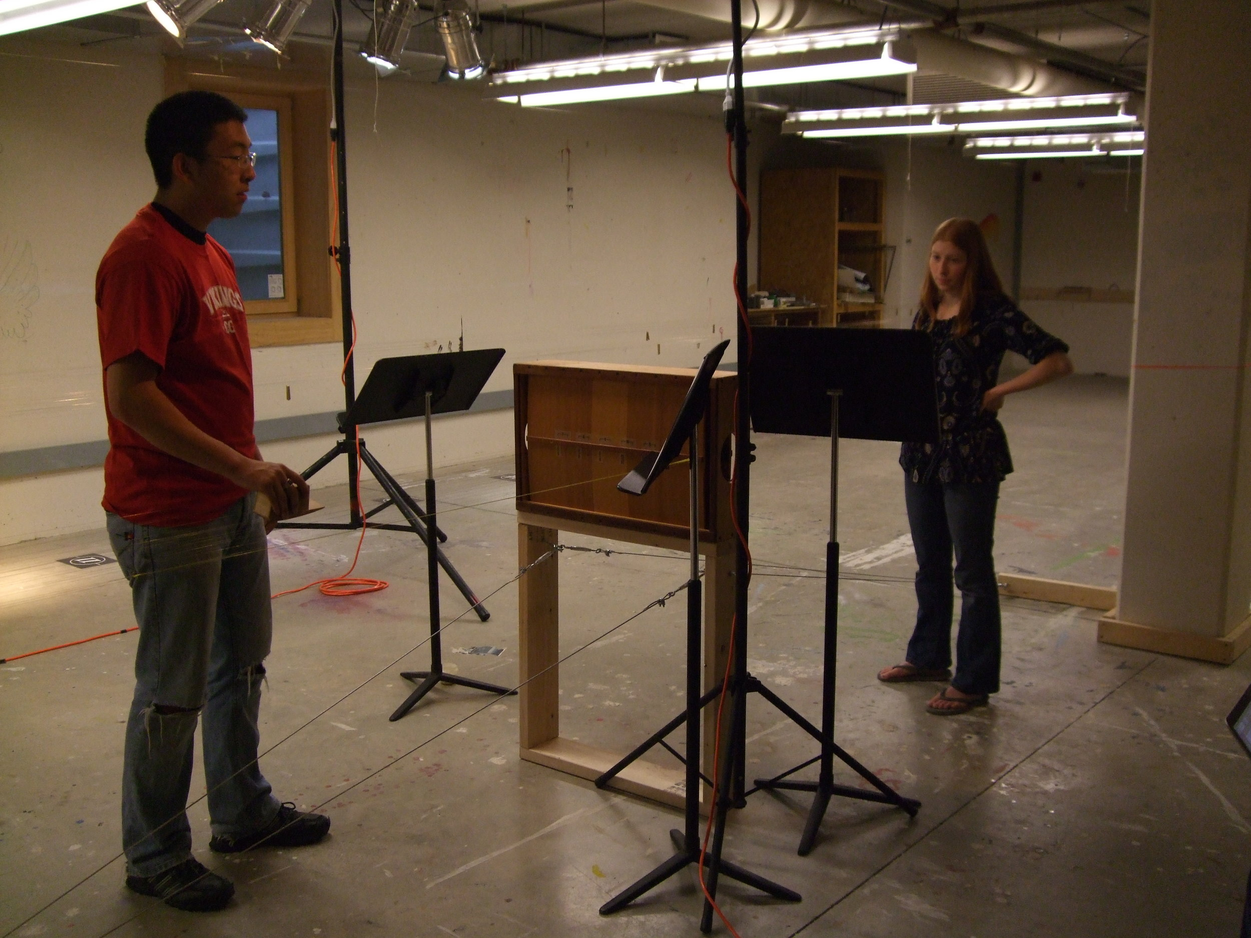 box bow rehearsal with students