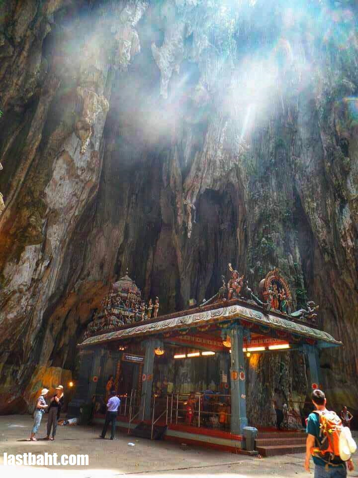 a Hindu shrine inside Batu Caves