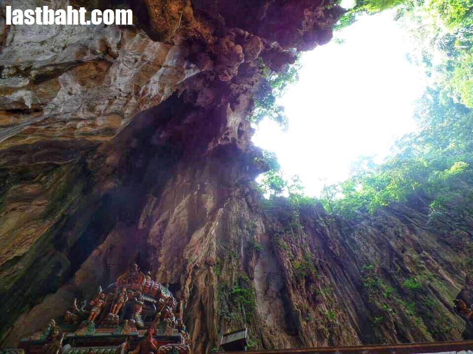 Batu Caves open to the sky